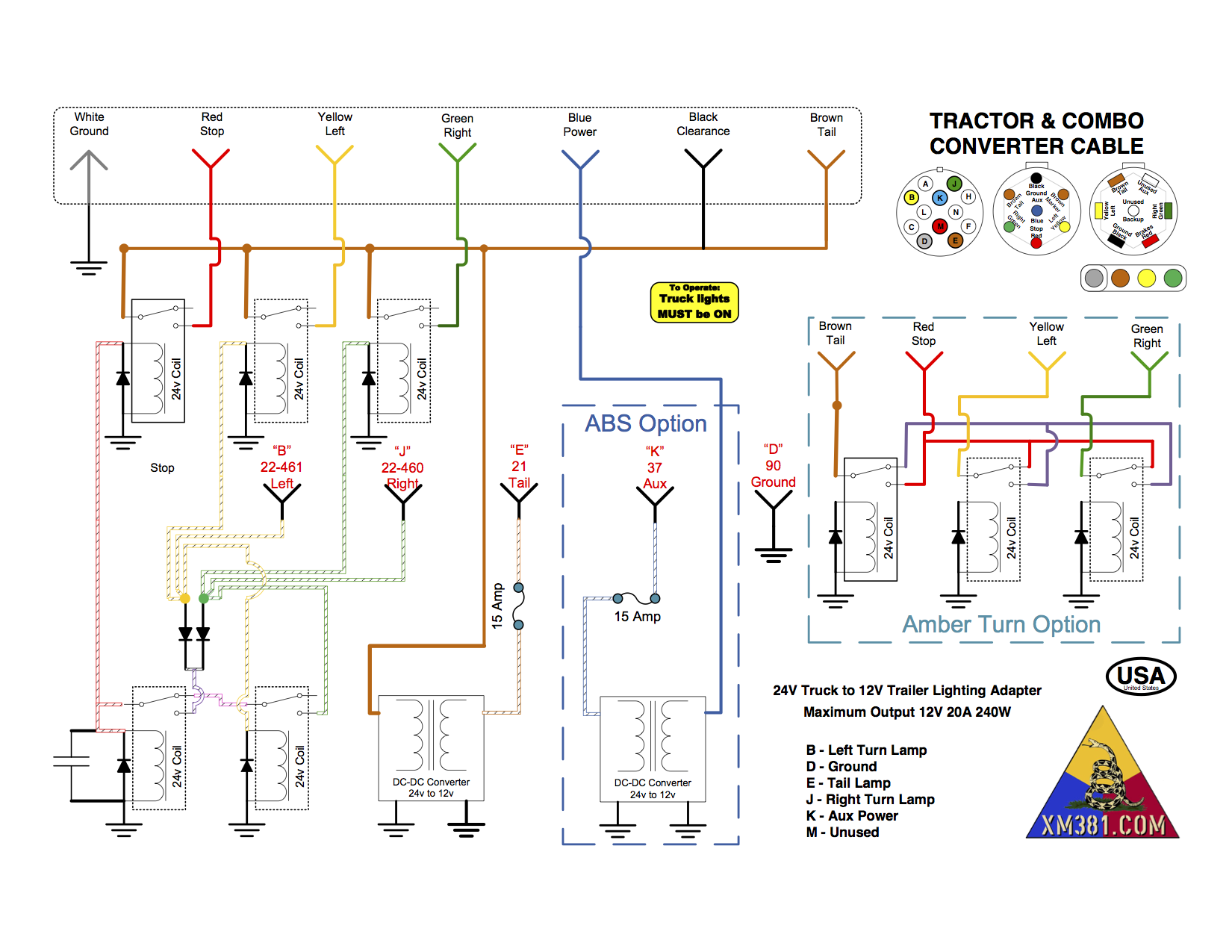 Civi Light Plans Tractor m35a2 wiring diagram boat trailer wiring diagram \u2022 free wiring 7 pin tractor trailer wiring diagram at pacquiaovsvargaslive.co